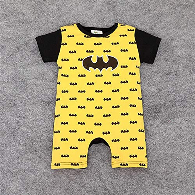 赤ちゃんの服新生児綿ロンパース素敵なウサギの耳赤ちゃん男の子女の子半袖赤ちゃん衣装ジャンプスーツ幼児服 (D, 3M)