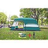 ドーム テント 大型 撥水加工 UVカット 8-12人用 2ルーム タクティカルペン付き 登山 旅行 キャンプ アウトドア