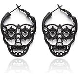 Soul Statement Women's Skull Dangle Earrings Gothic Halloween Drop Earring Set