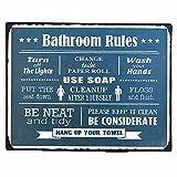 [カルナック] クルール アインサインボード Bathroom Rules TWA007