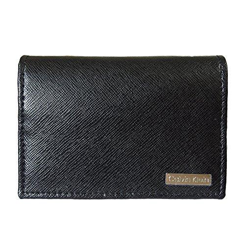 カルバンクライン カードケース CALVIN KLEIN 名刺入れ CK ブラック CREDIT CARD CASE WITH GUSSET 79396【並行輸入品】