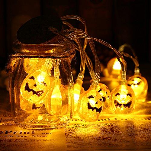 Gledto イルミネーションライト ハロウィンカボチャ飾りライト 1.2m10LEDライト ロマンチック雰囲気 ハロウィン クリスマス