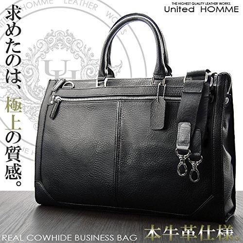 (ユナイテッドオム) United HOMME ビジネスバッグ ブラック2WAYショルダーバッグ 本革レザー牛革メンズ b-470 evidence