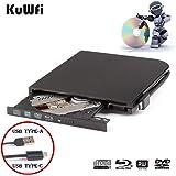 External Blu Ray DVD Drive Burner Player USB3.0 Type-C Dual interfaces Portable Slim Automatic slot-loading Blu-ray Drive CD/