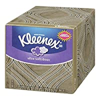 Kleenex Ultra Soft and Strong Facial Tissues, 75 Tissues per Cube Box, by Kleenex