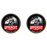 Uppercut Deluxe Easy Hold Hair Putty For Men, Light Hold, Natural Finish Water-Based Pomade For Men Washes Out Easily 2 x 90g