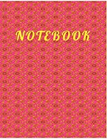 NOTEBOOK: College Ruled Notebook - Pink, Green and Yellow FlowersLarge (8.5 x 11 inches) - 140 Pages