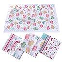 ランチョンマット 4枚入 100 綿 布製 40 60cm 花柄 2種類 丸洗い 華やか おしゃれ 幼稚園 小学校 給食用
