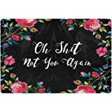 PZZ Oh Shit not You Again Doormat Home Decorative Entrance Door Mat Durable Front Outdoor Rug Non-Slip Welcome Carpet for Ent