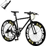 カノーバー(CANOVER) クロスバイク 自転車 21段変速 90mmエアロディープリム アルミフレーム CAC-023 NAIAD