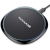 「2021年改善版」 NANAMI ワイヤレス充電器 (Qi認証) 最大15W出力 Type-C端子 置くだけ充電 iP…