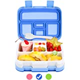 Bento Box for Kids Lunch Box BPA-Free DaCool Upgraded Toddler School Lunch Container with Spoon 5-Compartment Leak Proof Dura
