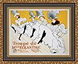 (v16 – 03 – 04 ) Henri de toulouse-lautrec Troupe de Mlle Eglantine_フレーム_キャンバス_ Giclee_プリント_ w28.5 _ X h22 >[Small] #13-Black/Gold V16-03M-MD535-70