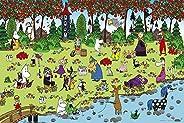 ジグソーパズル ムーミン谷の仲間たち 森の収穫 1000ピース (50x75cm)