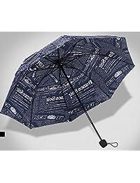 ブルーファッション雨傘ノベルティ用紙プリント傘メンズレディースFolding