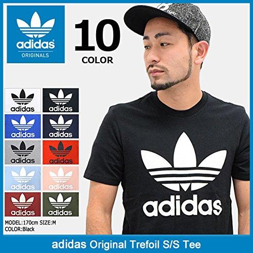 (アディダス) adidas Tシャツ 半袖 メンズ オリジナル トレフォイル オリジナルス サイズL ホワイト