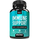 Immune Support - Immunity Boost Supplement with Elderberry, Vitamin C, Echinacea & Zinc - Once Daily Immune System Booster fo