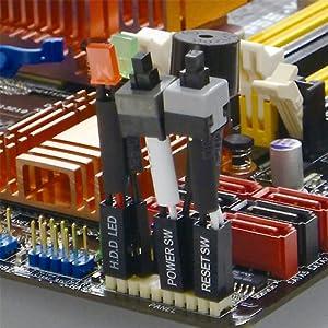 AINEX 【セットモデル】 [ 実験用スイッチ・LEDセット ] 2.54mmピッチ(2x5ピン)簡単脱着ケーブル付 KM-01-SET