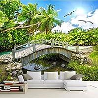 Weaeo カスタム3D写真壁紙ロール自然風景写真の背景3Dルームの装飾の写真壁画リビングルーム-400X280Cm