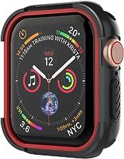 UMTELE コンパチブル Apple Watch Series4 ケース アップル ウォッチ シリーズ4ケース 保護ケース 全面保護カバー 着装まま充電可能 Apple Watch Series 4 専用 44mm アップルウォッチ4 だけに対応 耐衝撃性 精密操作 高感度&高級感 防汗(44mm、レッド)
