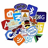 Bocoss - 50個のJavaインターネットJS PHPのドッカービットコインのHTMLクラウドプログラミング言語APPロゴステッカーおかしいです