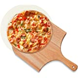 TOFAR Pizza Stone, Round Pizza Baking Stone for Oven, Free Wooden Pizza Peel Paddle, Thermal Shock Resistant Cordierite Cooki