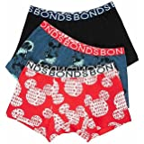 Bonds 3 X Boys Disney Mickey Mouse Trunks - Kids Underwear 8-10 UXET3A 5NB