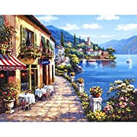 風景diy数字による現代壁アートキャンバス絵画キット着色による番号による家の装飾アートワークいいえフレーム40×50センチメートル