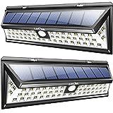 Litom ソーラーライト 人感センサー 広角 玄関入口/屋外照明/軒先/ガーデン/駐車場などに適用(2点セット) (54LED)