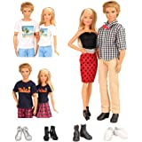 Barwa 10 Items for Ken and 11.5 Inch 28 - 30 cm Doll EU CE-EN71 Certified Include 3 Clothes Dresses and 2 PCS Shoes for Girl