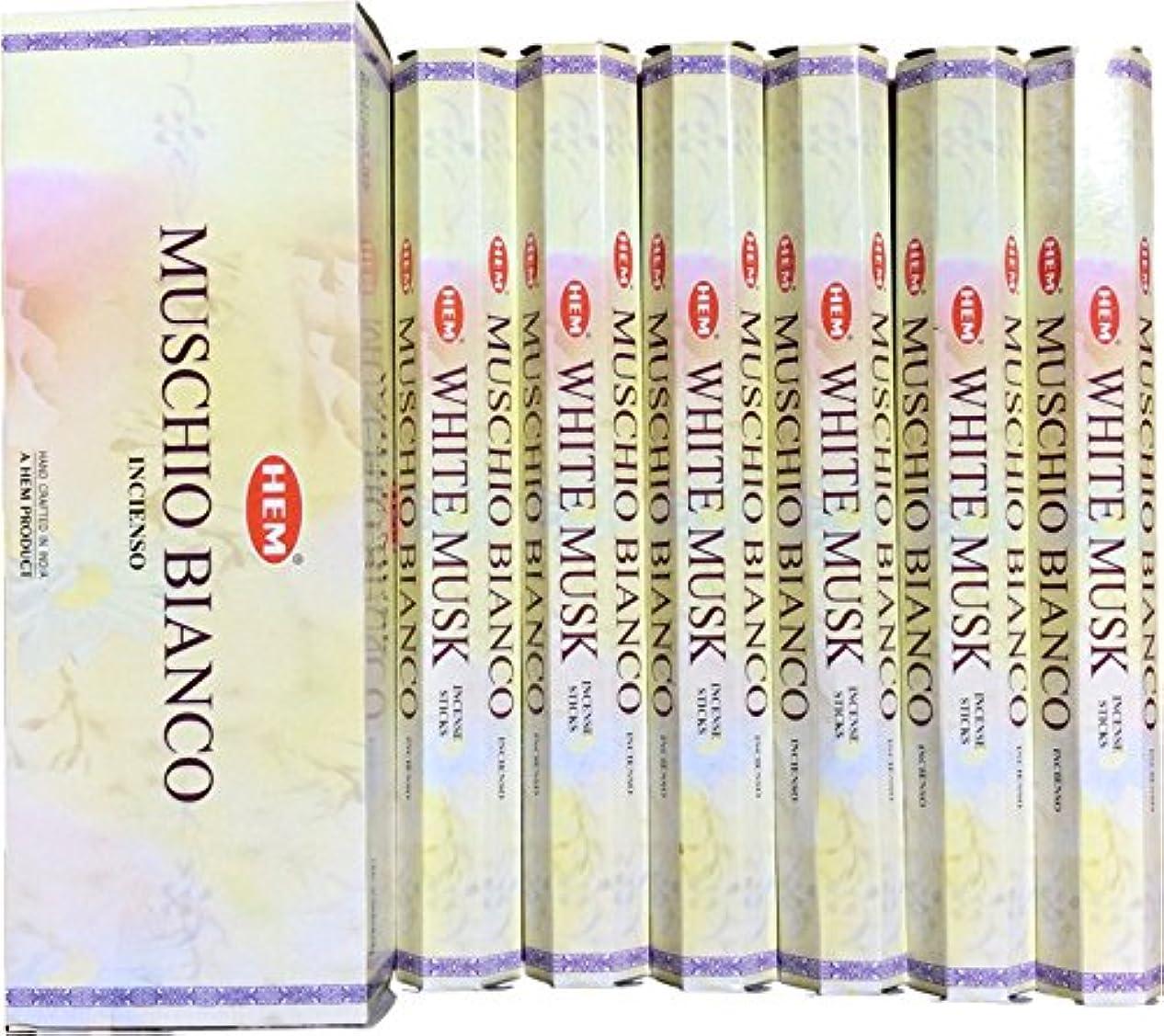コック真鍮五月HEM ヘム ホワイトムスク WHITEMUSK ステック お香 6本 セット