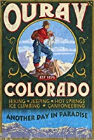 Ouray、コロラド–Vintage Sign 36 x 54 Giclee Print LANT-77090-36x54
