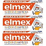 ELMEX Toothpaste Children Kids 0-6 Years Old - 3x50ml 3x1.69oz (3 Pack) by Elmex