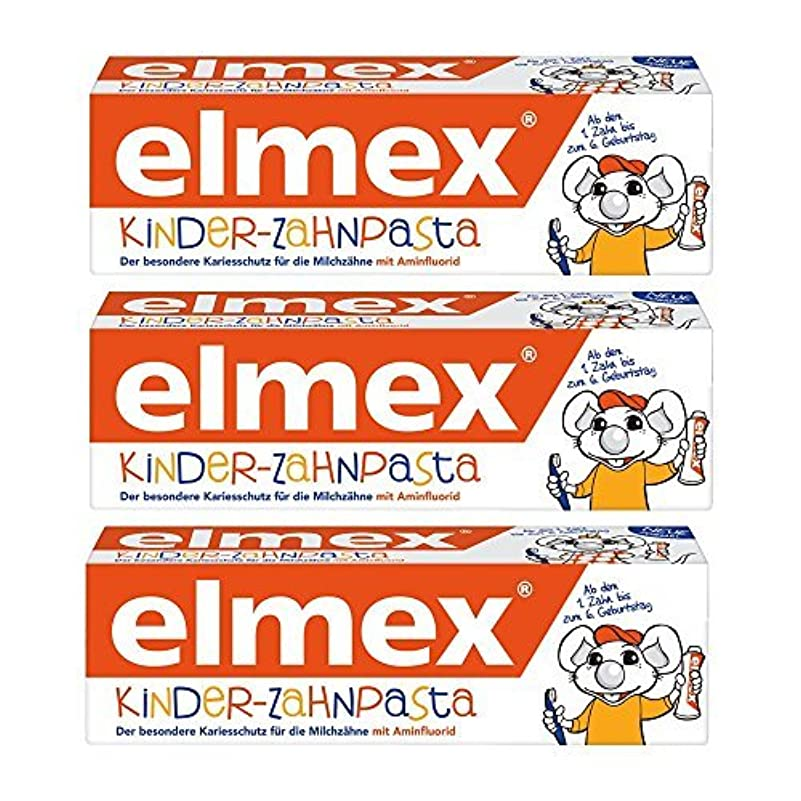 寄生虫化合物屋内ELMEX Toothpaste Children Kids 0-6 Years Old - 3x50ml 3x1.69oz (3 Pack) by Elmex