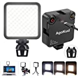 AgoKud 2021新版 撮影用ライト LEDビデオライト 小型 3200k-5600k 色温度調整可能 CRI95+ Type-C 充電式 3000mAh ステント付き カメラ ライト 補助照明 DJI Osmo Pocket Action Mo