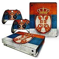 XBOX ONE X Skin Design Foils Faceplate Set - Serbia Design