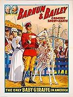 1916赤ちゃんキリンサーカス広告アートポスター 10x13.5  平行輸入