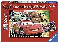 Ravensburger Cars: New Adventure Jigsaw Puzzle (2 x 24 Piece) [並行輸入品]