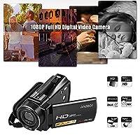 Rakuby ビデオカメラ デジタルビデオカメラ Andoer HDV -V7プラス1080PフルHD 24MP ポータブルデジタルリモートコントロール赤外線ナイトビジョンレコーダー+ 0.45X広角レンズ 16Xズーム ホットシューマウント付きロータリーLCD