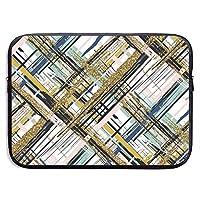 ラップトップメッセンジャーシームレスパターンゴールドキラキラテクスチャブラシストロークとストライプハンドバッグラップトップバッグ互換性のある13-13.3インチMacBook Air Pro 15インチ