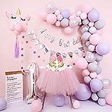 Girls 1st Birthday Decorations Set Balloon Arch Kit Girls 1st Birthday Party Supplies