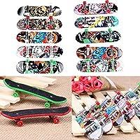 ミニスケートボード ボーディングキット フィンガーボードスケート 玩具 おもち(ランダムパターン 1個)