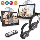 Car Headrest Mount DVD Monitor - 9.4 Inch Vehicle DVD Video Player,USB TF Card AV Input | Headphone Output, Touch Digital Scr