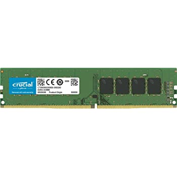 Crucial 8GB DDR4 2666 MT/s (PC4-21300) CL19 SR x8 Unbuffered DIMM 288pin CT8G4DFS8266