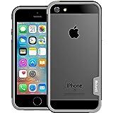 [WOEXET] iPhoneSE/iPhone5S/iPhone5用バンパーとストラップセット ストラップ付きケース カラビナ 落下防止 モバイル 携帯ストラップ ネックストラップ スマホ用ストラップ ブラック