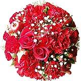ありがとうを伝える 生花フラワーギフト (①赤 AGT (プライムお急ぎ便)) 花金・高岡本店 フラワーアレンジメント ギフト 誕生日 結婚記念日 バラ お祝い 還暦 母の日 花 花束 プレゼント クリスマス バレンタイン