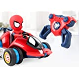 QIAN-xiマンダリンスパイダーマンリモートコントロール充電タイヤ高速ドリフト