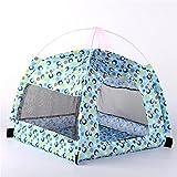 AvanigoFD ペットテント ペットベッド ペットハウス ワンちゃん、イヌ、犬、ドッグ、ネコちゃん、猫、キャット夏用ベッド キャンプ 涼しい 通気性あります 組み立てが不要 開けてすぐ使用できる