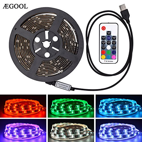 AEGOOL USBテープライト 防水RGBテープ 間接照明...