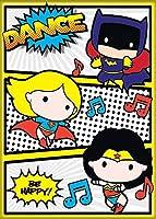 "ata-boy DC Comics Chibi、バットガールスーパーガールand Wonder Womanダンスパーティー2.5"" X 3.5""マグネット冷蔵庫用、ロッカーと"